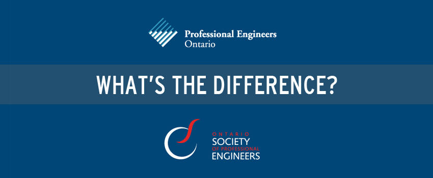 What's the difference between Professional Engineers Ontario (PEO) and Ontario Society of Professional Engineers (OSPE)