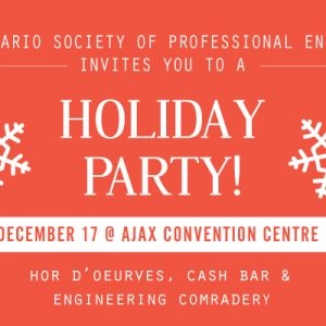 Celebrate the holidays with fellow engineers!