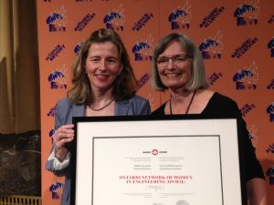 Ontario Network of Women in Engineering (ONWiE) wins national award