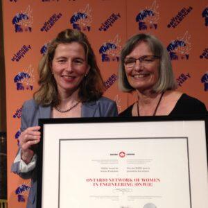 Ontario Network of Women in Engineering (ONWiE) wins national award