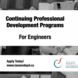 OSPE and Lassonde Professional Development partner to bring you new courses!