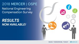 The 2018 Mercer OSPE National Engineering Compensation Survey – RESULTS NOW AVAILABLE!