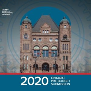 Ahead of Ontario's 2020 Budget, OSPE delivers recommendations to the Standing Committee on Finance and Economic Affairs