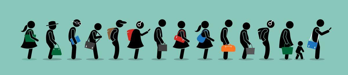 public transit queue