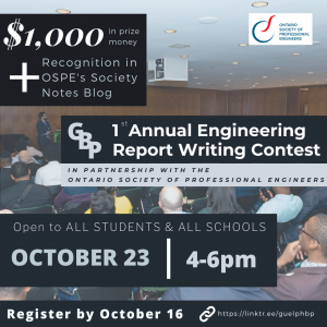 OSPE's Exchange Hub and Guelph Black Professionals group hold Engineering Report Contest