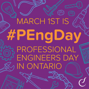 Celebrate P.Eng. Day this Monday, March 1st